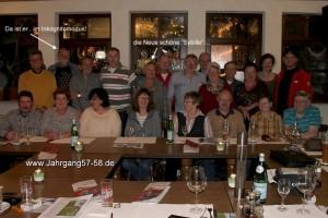 Jahrgangstreffen im April in Heppenheim, in der Gaststätte La Tricone