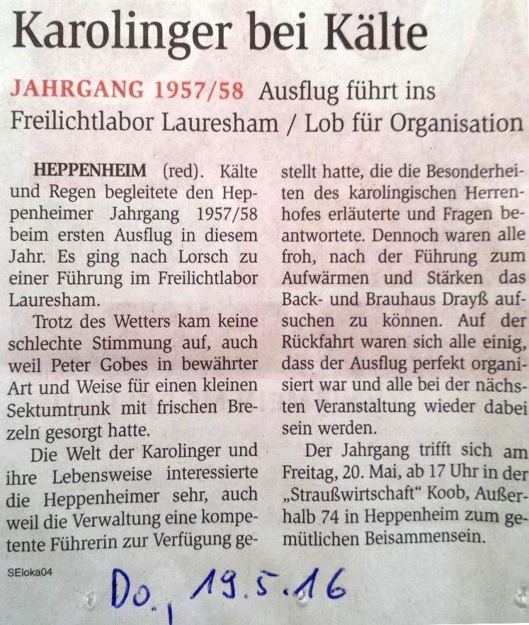 presse Bericht Lauresham